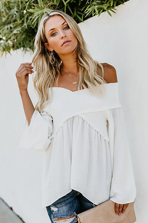 Over Heels V-neck Pleated Flare Top - 6 Colors