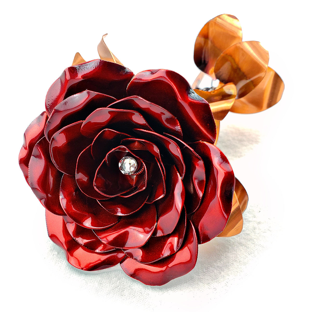 Birthstone Metal Rose - Gifts for birthdays, weddings, anniversary, valentines - Steel Rose Company