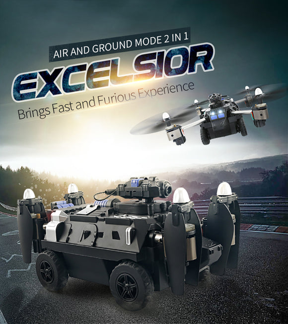 Air And Ground Tank Drone with HD 720P Camera and WIFI FPV