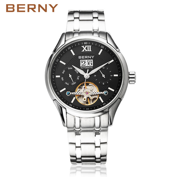 2017 BERNY Luxury Men's Automatic Self-Wind Watch