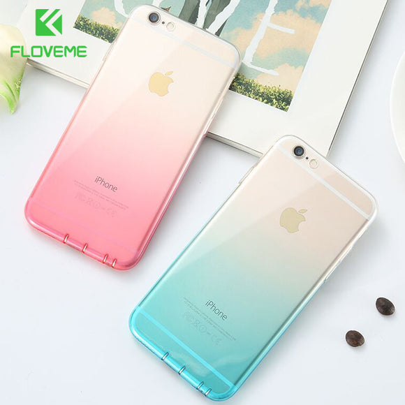 Colorful Ultra Thin Clear Case for iPhone 7, 8 Plus, X, Xs, XR, XS MAX