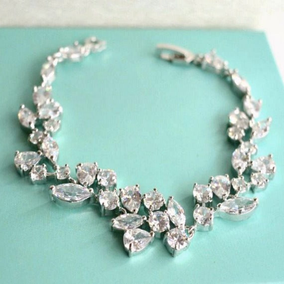 floral leaves vine bracelet