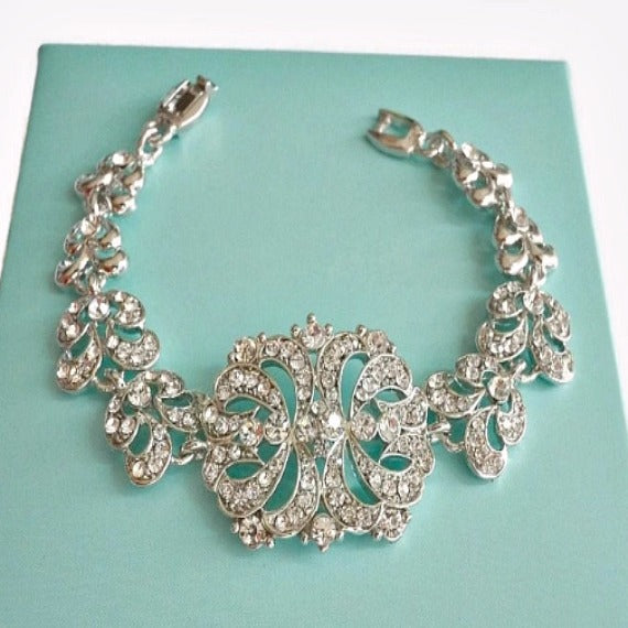 filigree link bridal bracelet