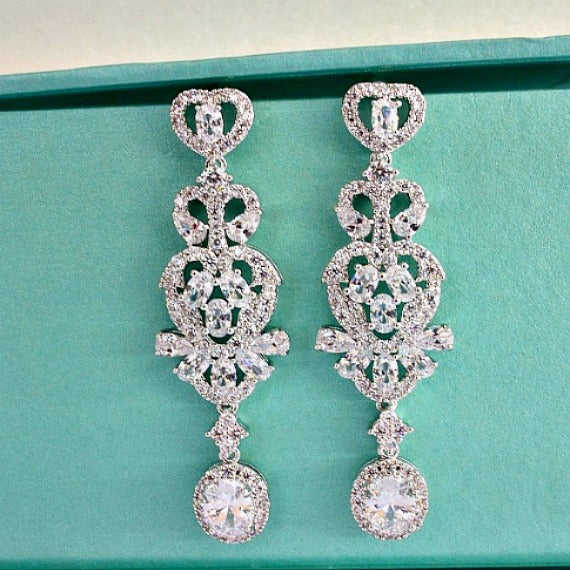 crystal chandelier wedding earrings