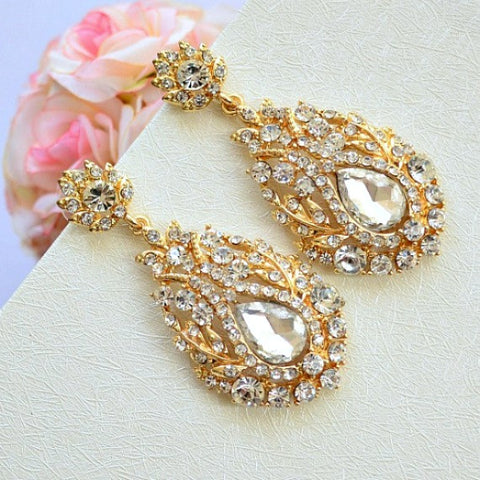 art deco bridal earrings