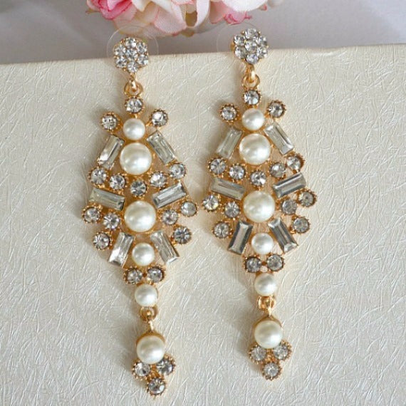 long chandelier earrings
