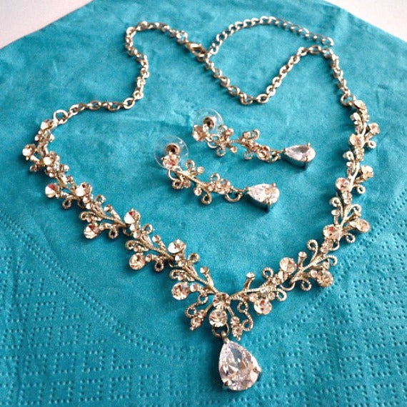 vine bridal jewelry set
