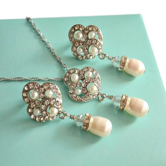 pearl necklace wedding set