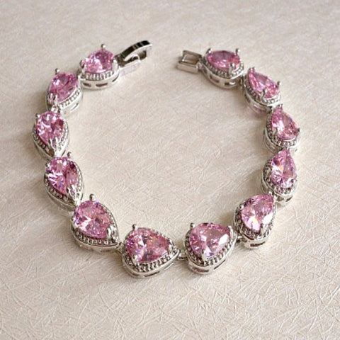 blush pink wedding bracelet