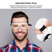 Eye Goggles,Flexible,Soft,Indirect Vent,360° Goggles ,Clear Body, Uncoated, Clear Lens, Black Adjustable Strap Splash Wide-Vision For Home&Workplace