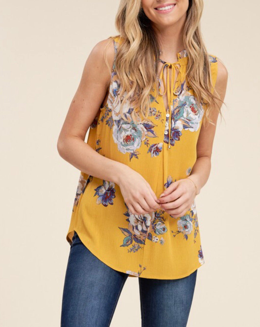 Marigold Floral Tank