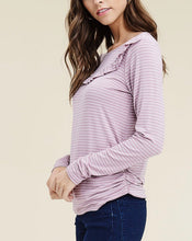 Lilac Ruffled Top