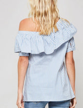 Striped One Shoulder Blouse
