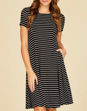 Navy Stripe Swing Dress