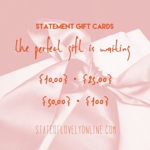 State of Lovely, Statement 𝒢𝒾𝒻𝓉 Card