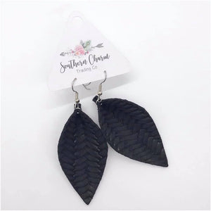 Braided Leather Earings