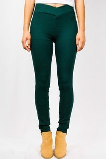 Deep Teal High- Waisted Jeggings