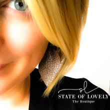 {State}ment Leather Earring