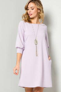 Lavender Shift Dress