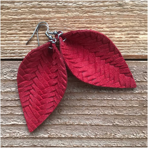 Braided Leather Petal Earring