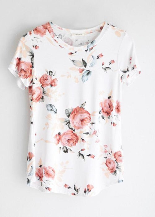 {State} Floral Tee