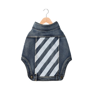 Woof-White Denim Sleeveless Vest