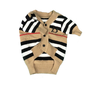 Pawberry Stripe Cardigan