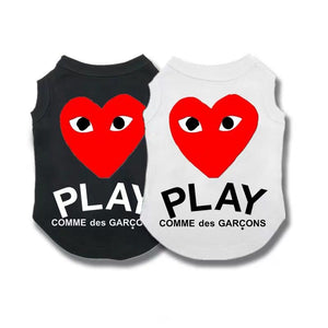 CDG Play Heart Logo Sleeveless Tee