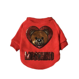 Pawchino Sequin Bear Sweater