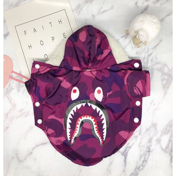 Bathing Pup Reversible Shark Camo Jacket