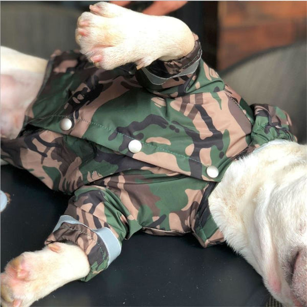 Bathing Pup Camo Raincoat