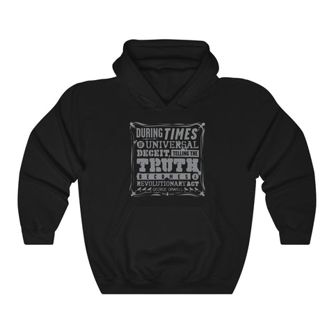 Orwell Quote - Unisex Hooded Sweatshirt - WikiLeaks Shop Australia