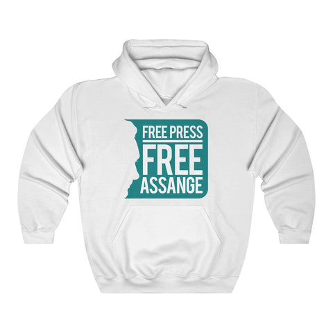 Free Press Free Assange - Unisex Hooded Sweatshirt - WikiLeaks Shop Australia