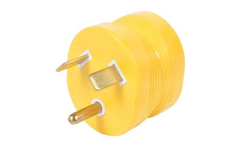 Camco 55233 30 AMP Male / 15 AMP Female Electrical PowerGrip Adapter