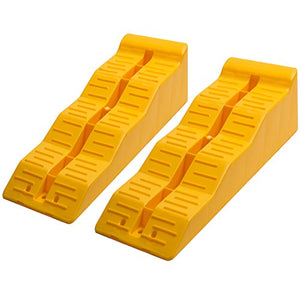 Leveler Ramp Chock Multi-Leveling Blocks (Pack of 2) for RV and Trailer Wheels