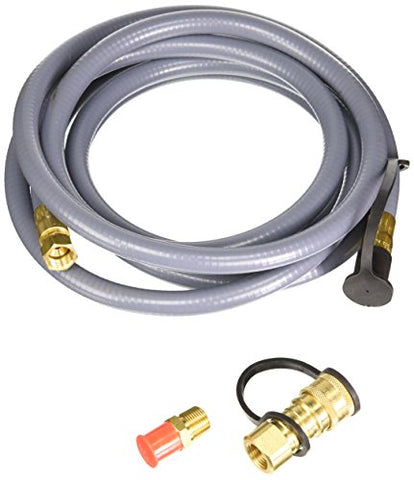 "Mr. Heater 12 Foot Natural Gas and Propane Gas Hose Assembly 3/8' Female Pipe Thread x 3/8"" Male Flare Quick Disconnect"