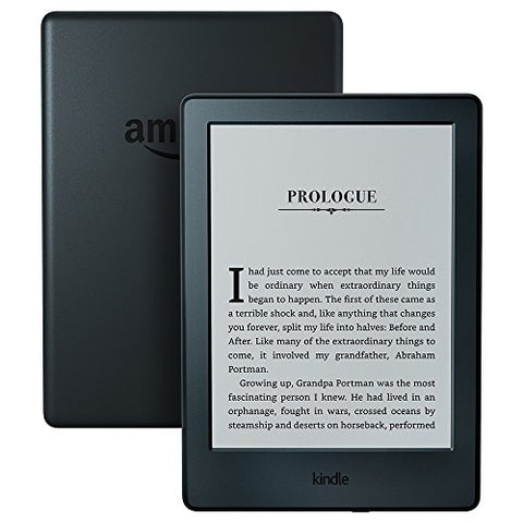 "Kindle E-reader - Black, 6"" Glare-Free Touchscreen Display, Wi-Fi -  Includes Special Offers"