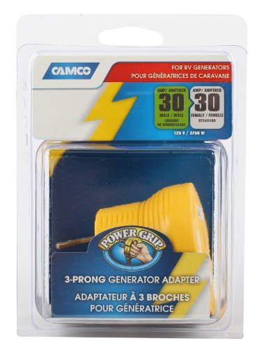 Camco 55333 RV 30 AMP 3-Prong Generator Adapter
