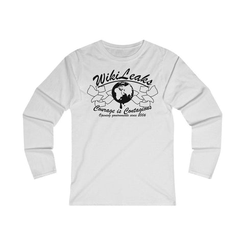 WikiLeaks - Opening Governments Since 2006 - Women's Fitted Long Sleeve Tee
