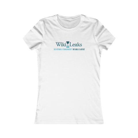 WikiLeaks Supporter's design - The Method is Transparency - Women's Premium Tee