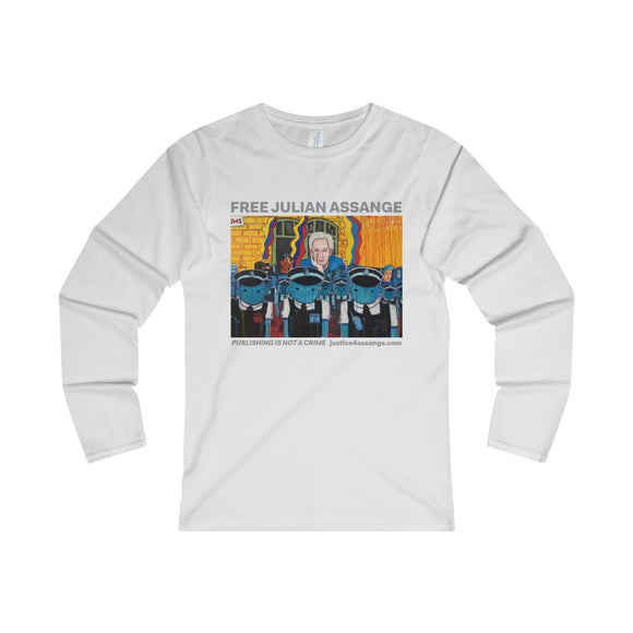 The Wiki-man 3.0 - Women's Fitted Long Sleeve Tee