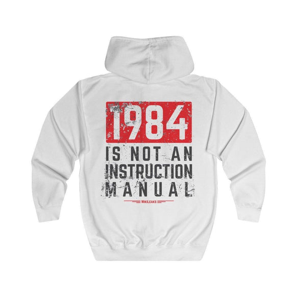 1984 is not an instruction manual (light) - Full Zip Hoodie