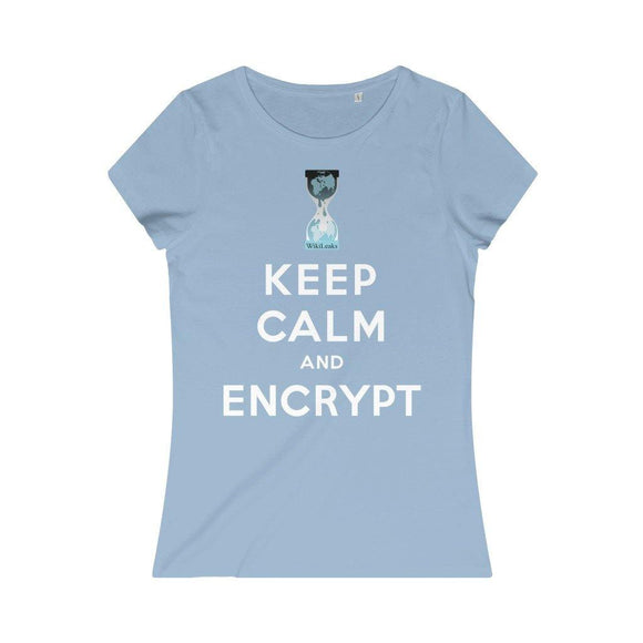 Keep Calm and Encrypt - WikiLeaks - Women's Organic Tee