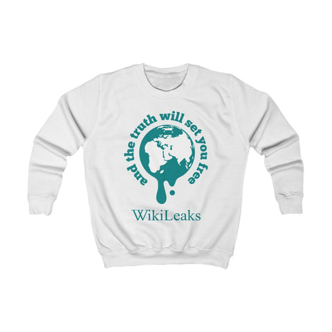 WikiLeaks Supporters - And the Truth will set you Free - Kids Sweatshirt