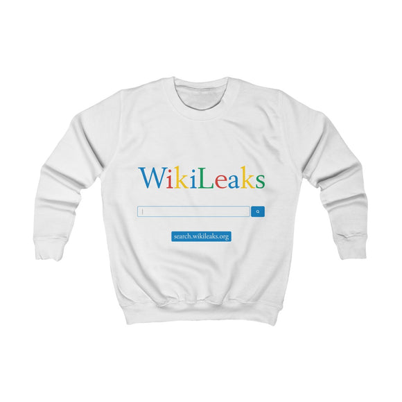 WikiLeaks Search - Kids Sweatshirt