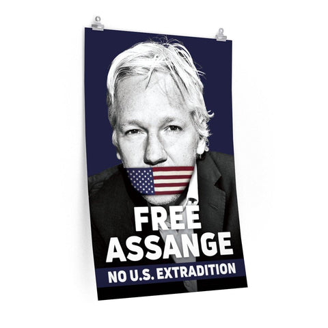 Free Assange - No U.S. Extradition - Poster