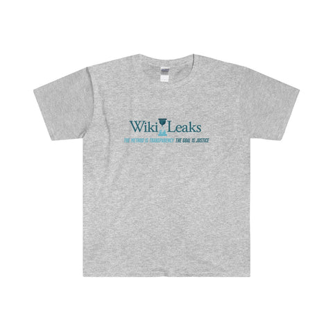 WikiLeaks Supporter's - Men's Fitted Short Sleeve Tee