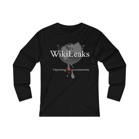 WikiLeaks - Opening Governments - Women's Fitted Long Sleeve Tee