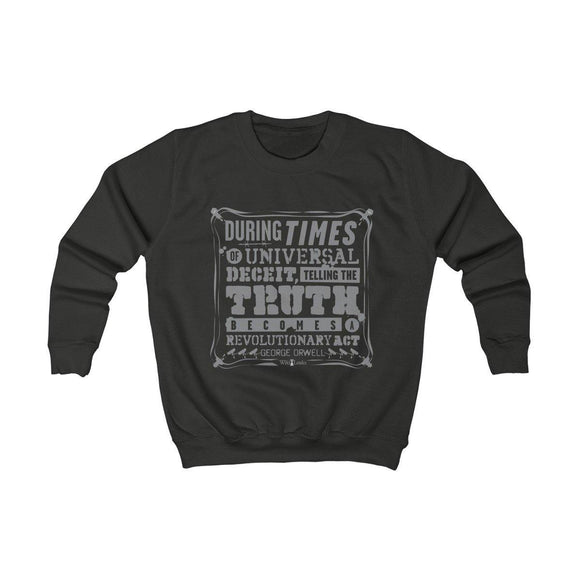 Orwell Quote - Kids Sweatshirt