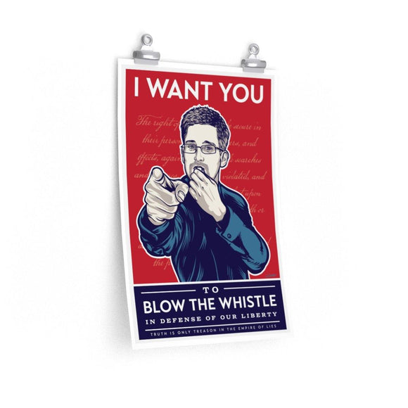Edward Snowden - Blow the whistle - Poster